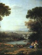 Claude Lorrain The Rest on the Flight into Egypt oil