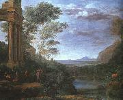 Claude Lorrain Landscape with Ascanius Shooting the Stag of Silvia oil