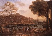 Claude Lorrain Harbour Scene with Grieving Heliades dfg oil painting picture wholesale