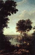 Claude Lorrain Landscape with the Finding of Moses oil painting picture wholesale