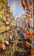 Claude Monet La Rue Montorgueil, oil painting picture wholesale
