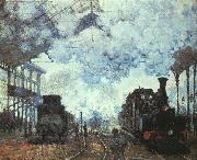 Claude Monet Arrival at St Lazare Station oil painting picture wholesale