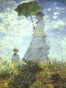 Claude Monet Woman with a Parasol oil painting picture wholesale