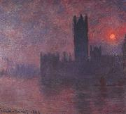 Claude Monet Houses of Parliament at Sunset oil painting picture wholesale