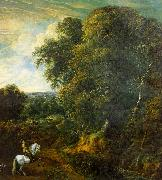 Corneille Huysmans Landscape with a Horseman in a Clearing oil painting picture wholesale