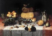 DIJCK, Floris Claesz van Still-Life with Cheesesv   sdd oil painting artist