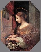 DOLCI, Carlo St Cecilia at the Organ dfg oil painting picture wholesale