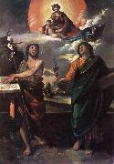 DOSSI, Dosso The Virgin Appearing to Sts John the Baptist and John the Evangelist dfg oil painting artist