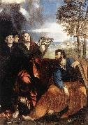 DOSSI, Dosso Sts John and Bartholomew with Donors ds oil painting picture wholesale