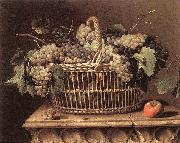 DUPUYS, Pierre Basket of Grapes dfg oil