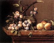 DUPUYS, Pierre Plums and Peaches on a Table dfg Spain oil painting artist