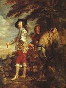 DYCK, Sir Anthony Van Charles I: King of England at the Hunt drh oil painting picture wholesale