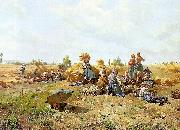 Daniel Ridgeway Knight Harvest Repast oil painting picture wholesale