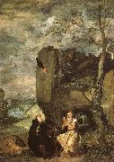 Diego Velazquez Saint Anthony Abbot Saint Paul the Hermit oil painting artist