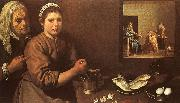 Diego Velazquez Christ in the House of Martha and Mary oil painting artist