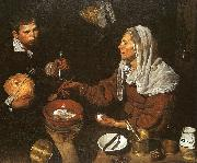Diego Velazquez An Old Woman Cooking Eggs oil painting artist