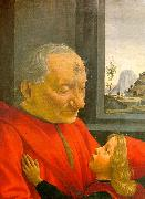 Domenico Ghirlandaio An Old Man and his Grandson oil painting picture wholesale