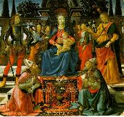Domenico Ghirlandaio Madonna Enthroned with the Saints  q oil painting picture wholesale