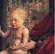 EYCK, Jan van The Virgin of Chancellor Rolin (detail) ds oil painting picture wholesale