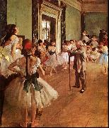 Edgar Degas The Dance Class oil painting