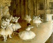 Edgar Degas Ballet Rehearsal on Stage oil painting