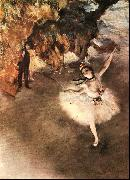 Edgar Degas The Star Dancer on Stage oil painting