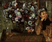 Edgar Degas Madame Valpincon with Chrysanthemums oil painting reproduction