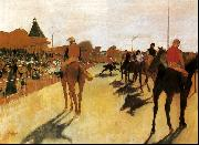 Edgar Degas Horses Before the Stands oil painting picture wholesale