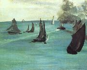 Edouard Manet The Beach at Sainte Adresse oil painting picture wholesale