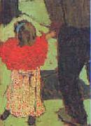 Edouard Vuillard Enfant avec Echarpe Rouge oil painting picture wholesale