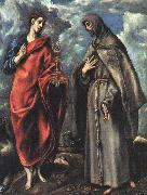 El Greco Saints John the Evangelist and Francis oil painting picture wholesale