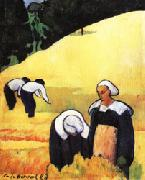 Emile Bernard The Harvest(Breton Landscape) oil painting artist