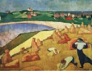 Emile Bernard Harvest on the Edge of the Sea oil painting picture wholesale