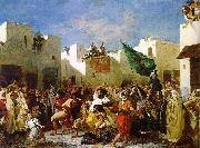 Eugene Delacroix The Fanatics of Tangier Spain oil painting reproduction
