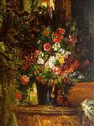 Eugene Delacroix Bouquet of Flowers on a Console_3 Spain oil painting reproduction