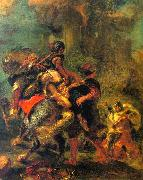 Eugene Delacroix The Abduction of Rebecca Spain oil painting reproduction
