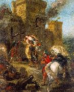 Eugene Delacroix The Abduction of Rebecca_3 oil painting artist