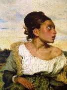Eugene Delacroix Girl Seated in a Cemetery Spain oil painting artist