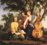 Eustache Le Sueur Melpomene, Erato and Polymnia oil painting picture wholesale