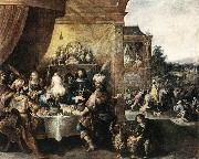 FRANCKEN, Ambrosius Feast of Esther dfh oil painting artist