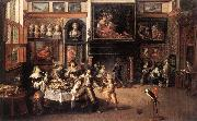 FRANCKEN, Ambrosius Supper at the House of Burgomaster Rockox dhe oil painting picture wholesale