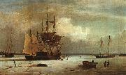 Fitz Hugh Lane Ships Stuck in Ice off Ten Pound Island, Gloucester oil painting picture wholesale