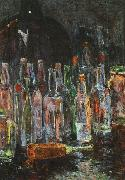Floris Verster Still Life with Bottles oil painting artist