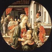 Fra Filippo Lippi Madonna and Child with Stories from the Life of St.Anne oil painting artist