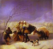 Francisco Jose de Goya The Snowstorm oil painting picture wholesale