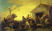 Francisco Jose de Goya Fight at Cock Inn oil painting picture wholesale