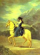 Francisco Jose de Goya Equestrian Portrait of Dona Maria Teresa Vallabriga oil painting picture wholesale