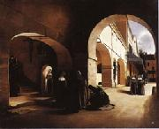 Francois Bonvin The Ave Maria;Interior of a Convent at Aramont,Verberie(Oise) oil painting picture wholesale