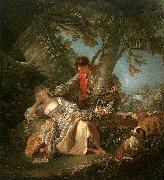 Francois Boucher The Sleeping Shepherdess oil painting artist