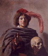 Frans Hals Portrait of a Young Man with a Skull oil